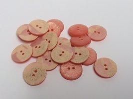 roze  knopen 18 mm