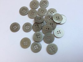 grijze knopen 15 mm