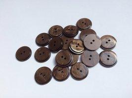 bruine knopen 17 mm
