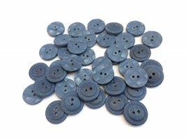 blauwe  knopen 15 mm