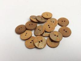 bruine knopen 18 mm