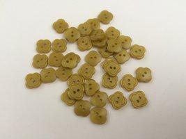 mosterd kleurige knopen 11 mm