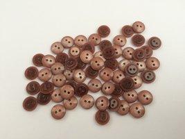 bruine knopen 11 mm
