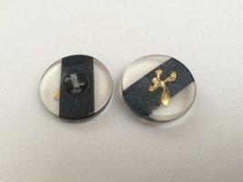 grijs transparante knoop  22 mm