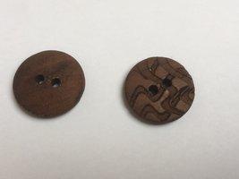 houten knoop  22 mm