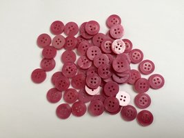 fuchsia kleurige  knopen 15 mm