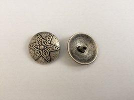 zilverkleurige knoop 25 mm