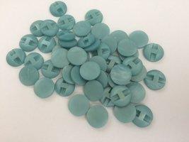 aqua kleurige  knopen 17 mm