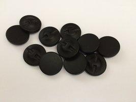 zwarte knopen 30 mm