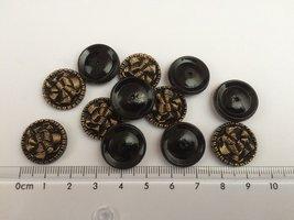 zwart goudkleurige scrapbook knopen 18mm