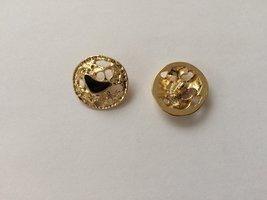 goudkleurige  knoop 18 mm