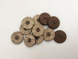 bruine knopen 20 mm