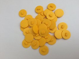 gele knopen 17 mm