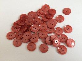 rood bruine knopen 15  mm