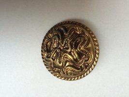 goudkleurige knoop  36 mm