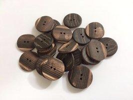 bruine knopen 22 mm