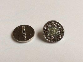 zilverkleurige knoop  13 mm