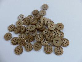 bruin/beige  knopen 12 mm