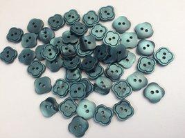 blauw/groen knopen 11x 12 mm