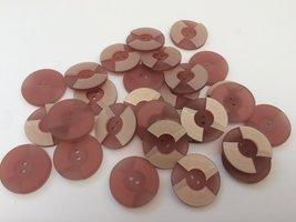 roze  knopen 22 mm