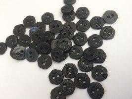 zwarte knopen 10 mm