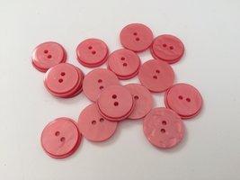 roze knopen 17 mm