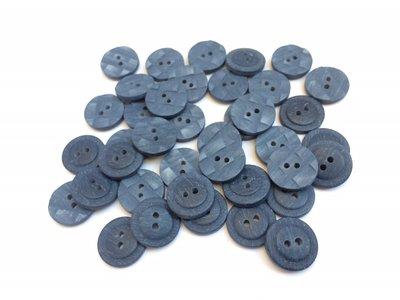 blauwe  knopen 20 mm