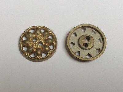 goudkleurige knoop  17 mm
