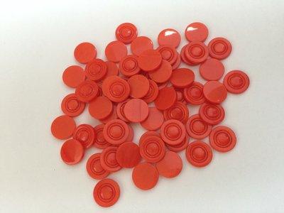 rood/oranje SCRAPBOOK knopen 15 mm